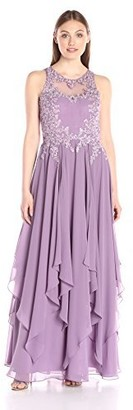 Decode 1.8 Women's Mauve Flower Embellished Dress 12