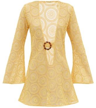 Dodo Bar Or Jane Cotton Crocheted-lace Mini Dress - Yellow