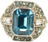 One Kings Lane Vintage 1920s Uncas Sterling Aqua Ring