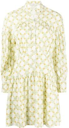 Sandro Paris Magy floral-print shirt dress