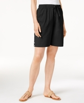 Karen Scott Petite Lisa Pull-On Shorts, Created for Macy's