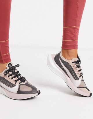 Nike Running Zoom Gravity in black and rose gold-Pink