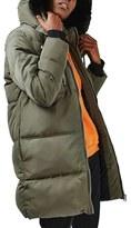 Topshop Women's Jasper Faux Fur Trim Puffer Parka