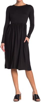 Velvet Torch Empire Waist Long Sleeve Midi Dress