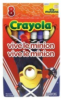 Crayola 8ct Minions Crayons - Vive Le Minion