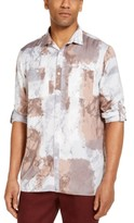 INC International Concepts Mens Chambray Jacquard Shirt