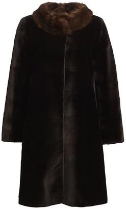 Zac Posen For The Fur Salon Reversible Sable-Trimmed Sheared Mink Coat