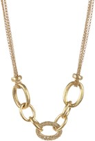 Rivka Friedman 18K Gold Clad Simulated Diamond Center Rolo Necklace
