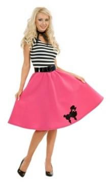 BuySeasons Women's Pink Poodle Dress Adult Costume