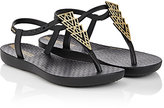 Ipanema Deco Rubber T-Strap Sandals-BLACK, GOLD