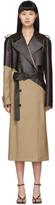 Bottega Veneta Tan and Brown Leather Trench Coat