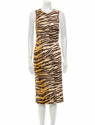 Dolce & Gabbana Animal Print Midi Length Dress