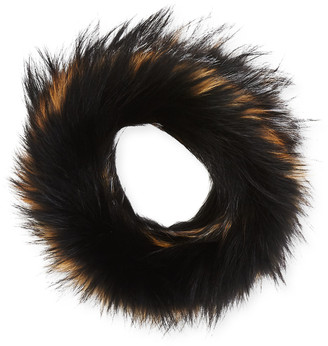 Surell Accessories Textile Knit Fur Infinity Scarf
