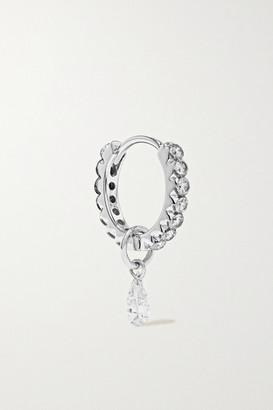 Maria Tash Eternity 8mm 18-karat White Gold Diamond Hoop Earring - one size