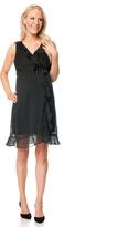 Motherhood Sleeveless Ruffle Front Maternity Dress