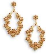 Azaara Vintage Normandie Topaz Swarovski Crystal 22K Goldplated Drop Earrings
