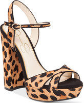 Jessica Simpson Naidine Strappy Block-Heel Sandals