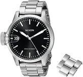 Nixon Men's A441000 Chronicle 44 Analog Display Swiss Quartz Silver Watch