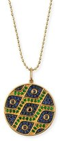 Sydney Evan Multi-Eye Black Diamond & Sapphire Medallion Necklace