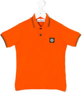 Stone Island Junior - logo polo shirt - kids - Cotton/Spandex/Elastane - 2 yrs