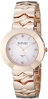 August Steiner Women's AS8157RG Rose Gold Quartz Watch with Light Pink Dial and Rose Gold Bracelet