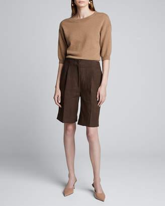 Loulou Studio 1/2-Sleeve Cashmere Sweater