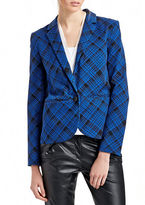 424 Fifth Plaid Boyfriend Jacket