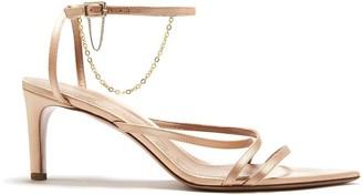 Oscar de la Renta Nude Asymmetric Sandals