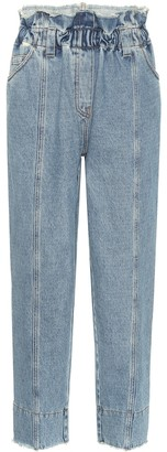 Philosophy di Lorenzo Serafini Paperbag high-rise tapered jeans