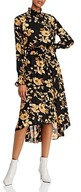 nanette Nanette Lepore Floral Smocked High/Low Dress