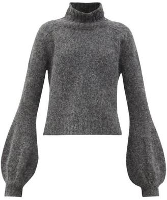 J.W.Anderson Balloon-sleeve Alpaca-blend Sweater - Grey