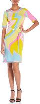 Leonard Printed Silk Tunic Dress