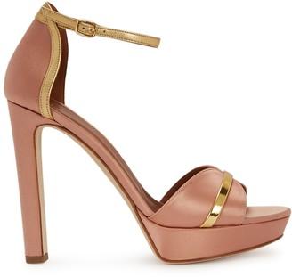 Malone Souliers Miranda 125 Dusky Pink Satin Sandals