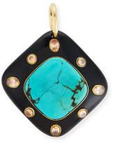 Ashley Pittman Aulu Dark Horn & Turquoise Pendant