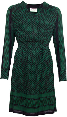 Cecilie Copenhagen - Green/Blue Candie Long Sleeve Dress - xsmall