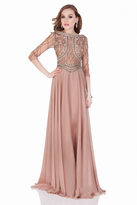 Terani Couture 1623M1861 Beaded Illusion Evening Gown