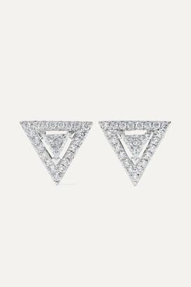 Messika Thea 18-karat White Gold Diamond Earrings