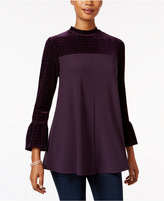 Style&Co. Style & Co. Petite Bell-Sleeve Velvet Top, Only at Macy's
