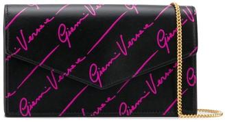 Versace logo wallet-on-chain clutch bag