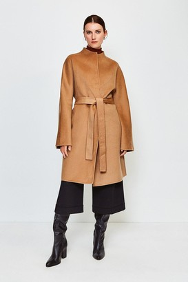 Karen Millen Wool Blend Hand Finished Coat