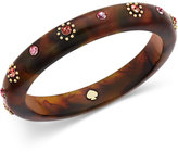 Kate Spade Out Of Her Shell Gold-Tone Tortoiseshell-Look Bangle Bracelet