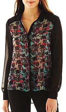 JCPenney Olsenboye® High-Low Button-Front Shirt