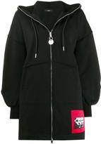 Diesel dropped shoulders zipped hoodie