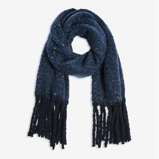 Joe Fresh Women's Boucle Yarn Scarf, Dark Blue (Size O/S)