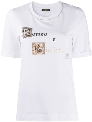 Peserico graphic-print relaxed-fit T-shirt