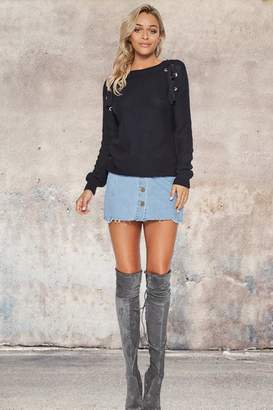People Outfitter Navy Fine Knit Sweater