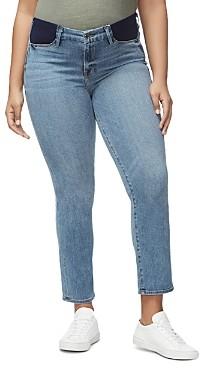 Good American Honeymoon Straight-Leg Maternity Jeans in Blue087