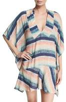Vix Maud Striped Drop-Waist Caftan Coverup