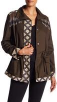 Haute Hippie Embellished Fringe Cargo Jacket