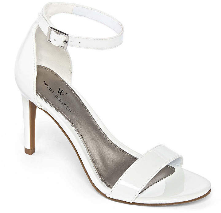 f1ea5eaa8310 White Stiletto Heel Women s Sandals - ShopStyle